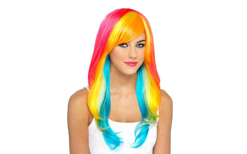 Rainbow Coloured Wigs