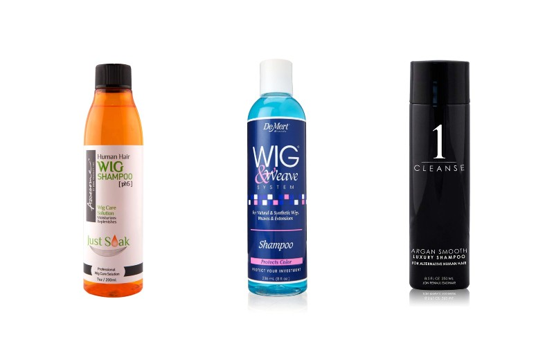 Shampoo for human hair wigs